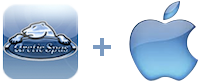arcticspas logo plus apple logo