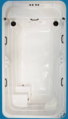 Top view of the Kingfisher model of Arctic Spas All Weather Pool